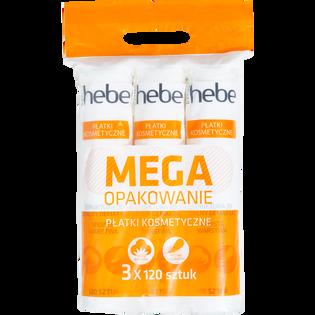 Hebe Basics_mega opakowanie: płatki kosmetyczne 3D, 3x120 szt./1 opak.