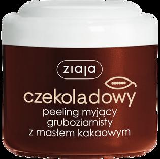 Ziaja_Czekoladowy_peeling myjący do ciała gruboziarnisty z masłem kakaowym, 200 ml