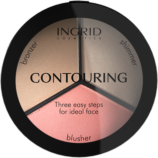 Ingrid_Ideal Face Contouring_paleta w kamieniu do konturowania twarzy, 19 ml