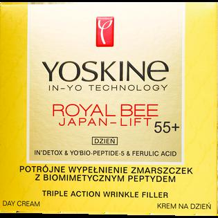 Yoskine_Royal Bee_krem do twarzy na dzień potrójne wypełnienie zmarszczek z biomimetycznym peptydem 55+, 50 ml_2