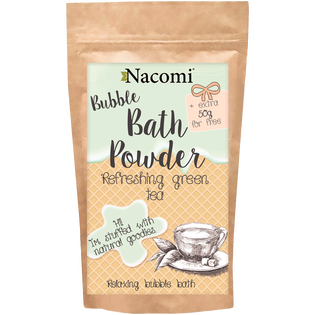 Nacomi_Zielona herbata_naturalny puder do kąpieli, 100 g