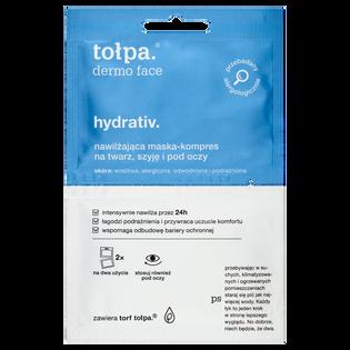 Tołpa_Dermo Face Hydrativ_maska-kompres o działaniu nawilżająco-odprężającym na twarz, szyję i pod oczy, 2x6 ml