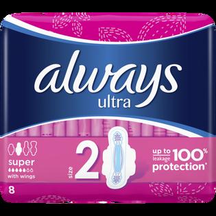 Always_Ultra_podpaski ze skrzydełkami rozmiar 2, 8szt./1 opak.