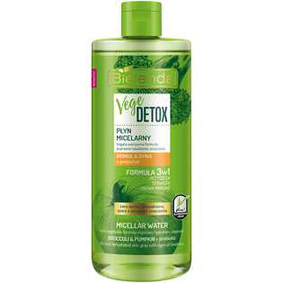 Bielenda_Vege Detox_płyn micelarny brokuł & dynia + prebiotyk, 500 ml