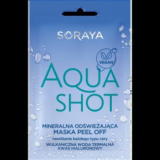 Soraya_Aqua Shot_mineralna odświeżająca maska do twarzy peel-off, 6 ml