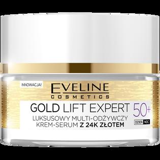 Eveline_Gold Lift Expert_multi-odżywczy krem-serum z 24k złotem do twarzy 50+, 50 ml_1