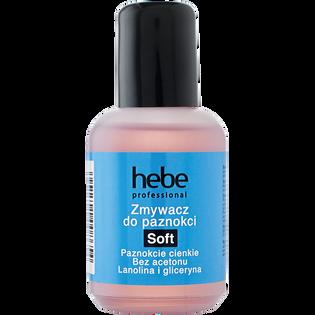 Hebe Professional_Soft_bezacetonowy zmywacz do paznokci naturalnych i sztucznych, 50 ml