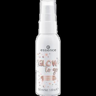 Essence_Glow to go_rozświetlający utrwalacz makijażu w sprayu, 50 ml