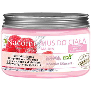 Nacomi_Raspberry Mousse_odżywczy mus do ciała o zapachu maliny, 150 ml