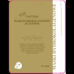 Purederm_maski hydrokolagenowe ze złotem, 25 szt.