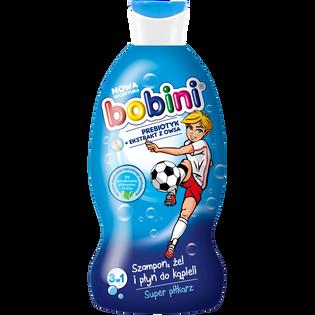 Bobini_Super Piłkarz_szampon do włosów, żel i płyn do mycia ciała, 330 ml