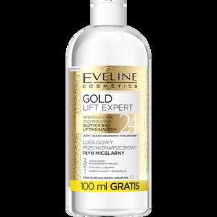 Eveline_Gold Lift Expert_przeciwzmarszczkowy płyn micelarny do twarzy, 500 ml