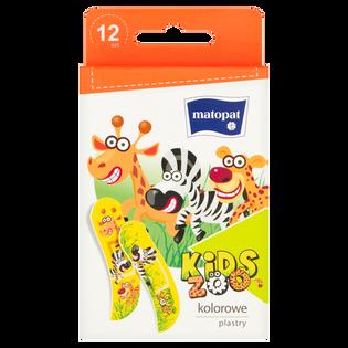 Matopat_Kids Zoo_zestaw plastrów dla dzieci, 12 szt./1 opak.