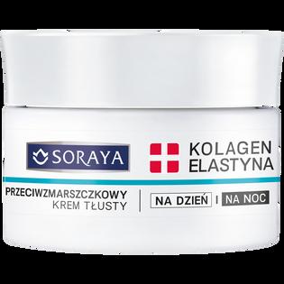 Soraya_Kolagen + Elastyna_krem do twarzy przeciwzmarszczkowy o działaniu nawilżający do skóry suchej na dzień i na noc z wit. A, C, E, 50 ml_1