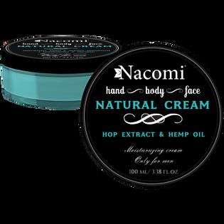 Nacomi_uniwersalny naturalny krem do twarzy męski, 100 ml