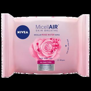 Nivea_MicellAir Skin Breathe_chusteczki micelarne z wodą różaną, 25 szt./1 opak.