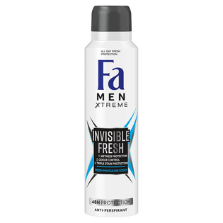 Fa_Men Xtreme Invisible Fresh_dezodorant męski w sprayu, 150 ml