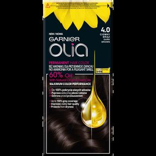 Garnier_Olia_farba do włosów 4.0 ciemny brąz, 1 opak.