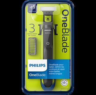 Philips_One Blade_zestaw: maszynka do golenia, 1 szt., nasadki, 3 szt., ładowarka, 1 szt._1