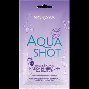 Soraya_Aqua Shot_nawilżająca maska mineralna do twarzy na tkaninie, 17 ml