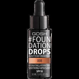 Gosh_#Foundation Drops_nawilżająco-kojący podkład do twarzy honey 008, 30 ml