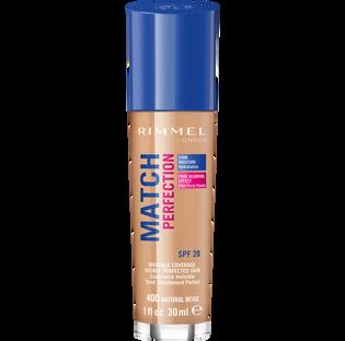 Rimmel_Match Perfection_nawilżający podkład do twarzy natural beige 400, 30 ml_1