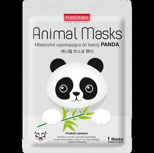 Purederm_Animal Masks Panda_maseczka łagodząca do twarzy, 1 szt.