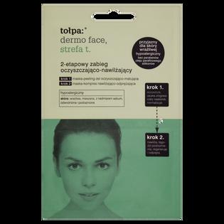 Tołpa_Dermo Face Strefa T_2-etapowy zabieg do twarzy oczyszczająco-nawilżający, 2x6 ml/1 opak.
