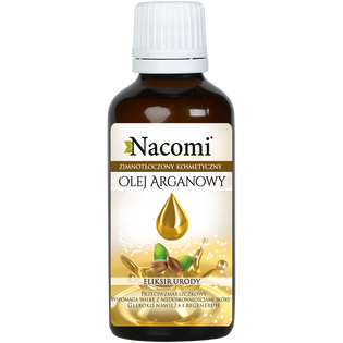 Nacomi_olej arganowy do twarzy, ciała i włosów dla skóry suchej i wrażliwej, 50 ml