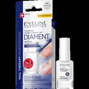 Eveline Cosmetics_Nail Therapy Professional_utwardzająca odżywka do paznokci z diamentami, 12 ml