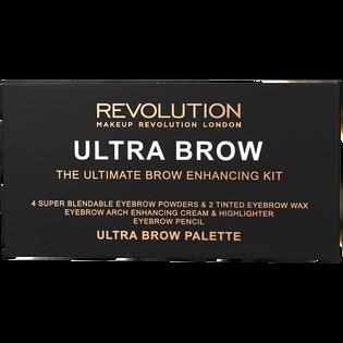 Revolution Makeup_Ultra Brow_zestaw do stylizacji brwi medium to dark, 1 opak._1
