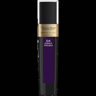 Pierre Rene_Matte Fluid Lipstick_pomadka w płynie do ust purple trouble 04, 6 ml