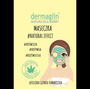 Dermaglin_Natural Effect_maseczka odświeżająca do twarzy, 20 g