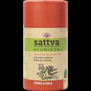 Sattva_Ayurveda_naturalna ziołowa farba do włosów henna&amla, 150 g