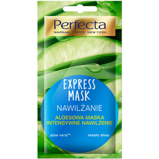 Perfecta_Beauty Aloes_intensywnie nawilżająca maska aloesowa do twarzy, 8 ml
