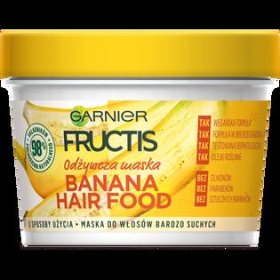 Garnier Fructis_Banana Hair Food_maska do włosów bardzo suchych, 390 ml