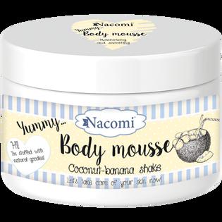 Nacomi_Coconut-banana shake_mus do ciała o zapachu bananowego shake, 180 ml