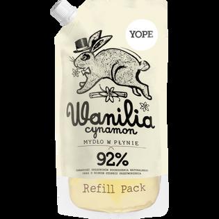 Yope_Wanilia, cynamon_zapas naturalne go mydła w płynie, 500 ml