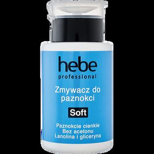 Hebe Professional_Soft_bezacetonowy zmywacz do paznokci naturalnych i sztucznych z pompką, 150 ml
