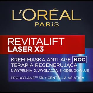 Loreal Paris_Revitalift Laser X3_krem przeciw oznakom starzenia się na noc, 50 ml