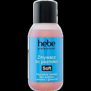 Hebe Professional_Soft_bezacetonowy zmywacz do paznokci naturalnych i sztucznych, 150 ml