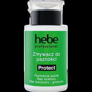 Hebe Professional_Protect_bezacetonowy zmywacz do paznokci naturalnych i sztucznych z pompką, 150 ml