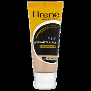 Lirene_Rozświetlający_rozświetlający podkład w płynie do twarzy z witaminą C naturalny 02, 30 ml