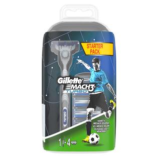 Gillette_Mach3 Turbo_maszynka do golenia męska, 1 szt. + wkłady 4 szt./1 opak_2