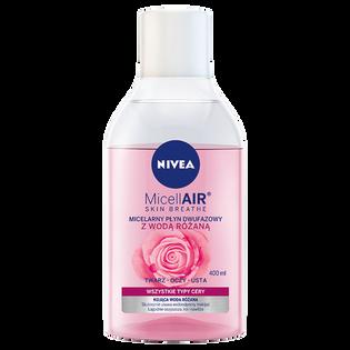 Nivea_MicellAIR_dwufazowy płyn micelarny do twarzy z wodą różaną, 400 ml