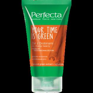 Perfecta_Your Time Is Green_żel z drobinami do mycia twarzy, 150 ml