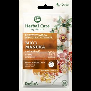 Herbal Care_Miód Manuka_maska do twarzy, 2x5 ml/1 opak.