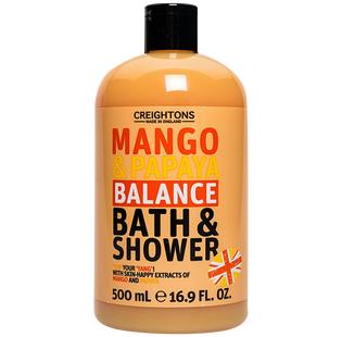 Creightons_Mango & Papaya_tropikalny żel pod prysznic i do kąpieli, 500 ml