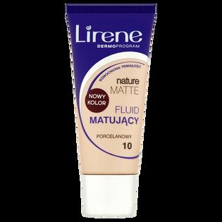Lirene_Nature Matte Fluid_podkład w płynie do twarzy porcelanowy 10, 30 ml
