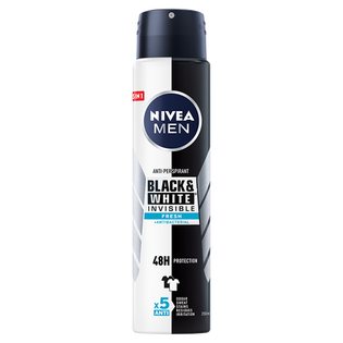Nivea Men_Black & White Invisible Fresh_antyperspirant męski w sprayu, 250 ml